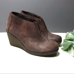 SPERRY | sz 7.5 suede ankle boot Wedges
